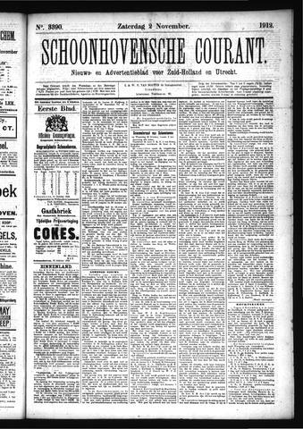 Schoonhovensche Courant 1912-11-02