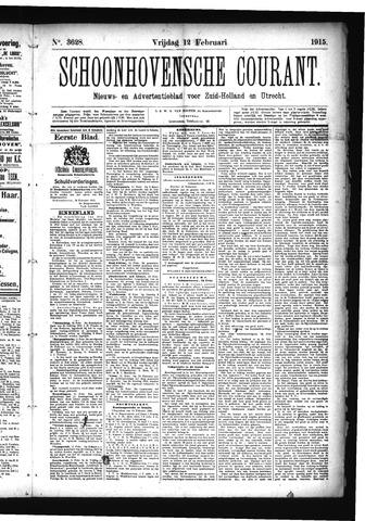Schoonhovensche Courant 1915-02-12