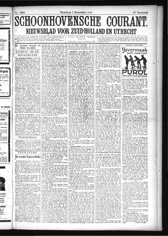 Schoonhovensche Courant 1925-12-07