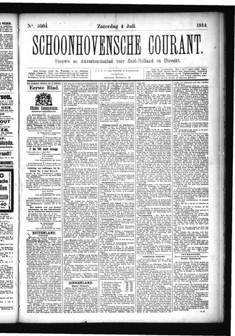 Schoonhovensche Courant 1914-07-04