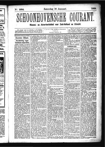 Schoonhovensche Courant 1909-01-16