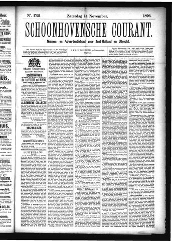 Schoonhovensche Courant 1896-11-14