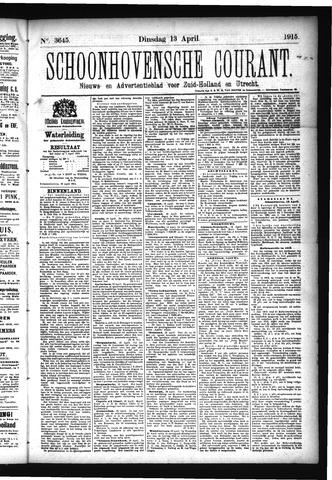 Schoonhovensche Courant 1915-04-13