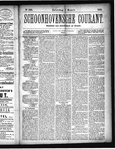 Schoonhovensche Courant 1890-03-01