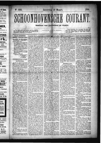 Schoonhovensche Courant 1889-03-16