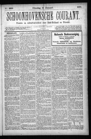 Schoonhovensche Courant 1918-01-15