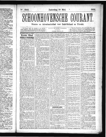 Schoonhovensche Courant 1912-05-18