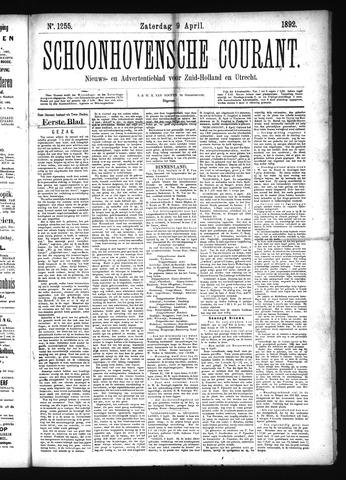 Schoonhovensche Courant 1892-04-09