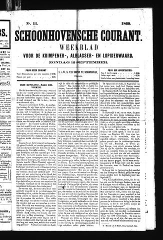 Schoonhovensche Courant 1869-09-12