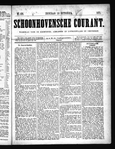 Schoonhovensche Courant 1872-10-13