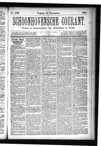 Schoonhovensche Courant 1915-11-12