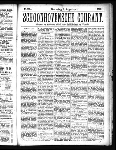 Schoonhovensche Courant 1893-08-09