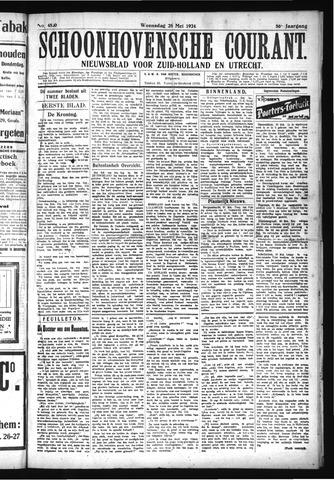 Schoonhovensche Courant 1924-05-28