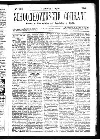 Schoonhovensche Courant 1905-04-05