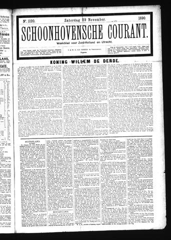Schoonhovensche Courant 1890-11-29