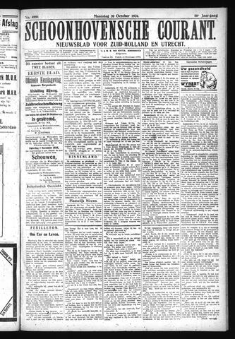 Schoonhovensche Courant 1924-10-20
