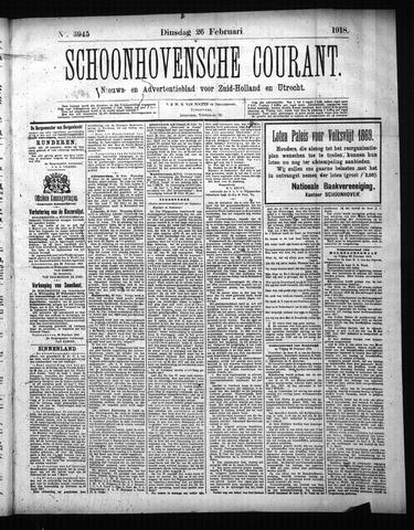 Schoonhovensche Courant 1918-02-26