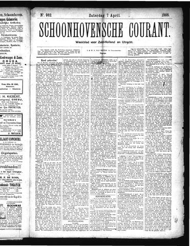 Schoonhovensche Courant 1888-04-07