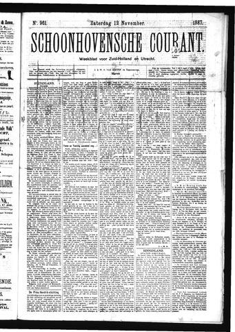 Schoonhovensche Courant 1887-11-12