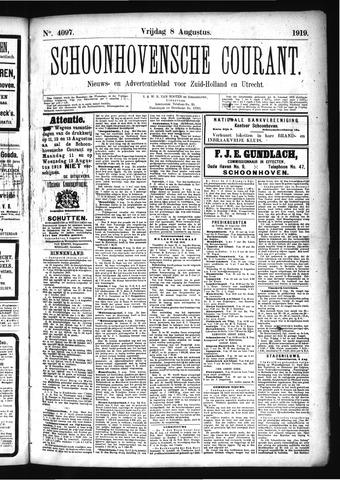 Schoonhovensche Courant 1919-08-08