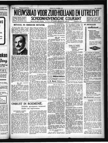 Schoonhovensche Courant 1940-11-29