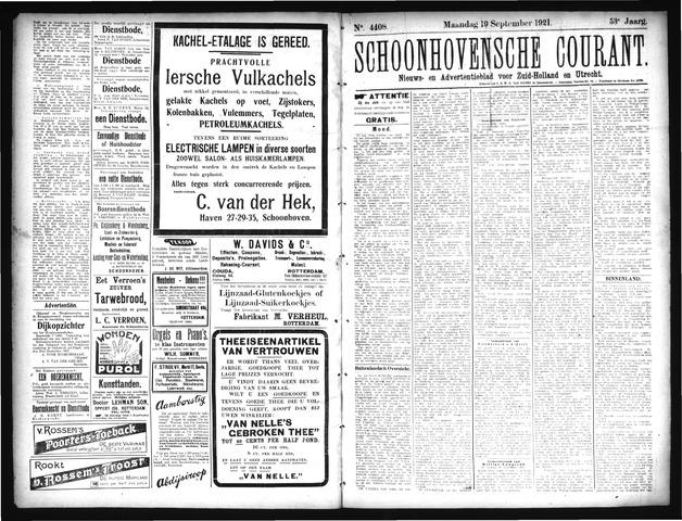 Schoonhovensche Courant 1921