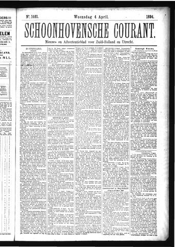 Schoonhovensche Courant 1894-04-04