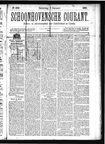 Schoonhovensche Courant 1892-01-09