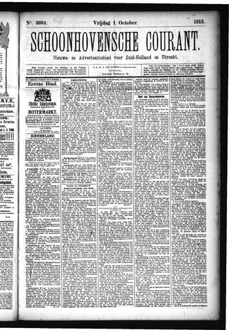 Schoonhovensche Courant 1915-10-01