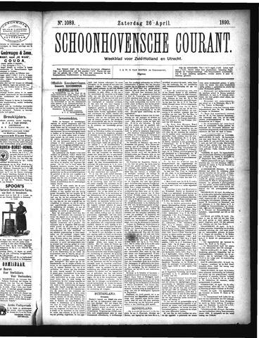 Schoonhovensche Courant 1890-04-26
