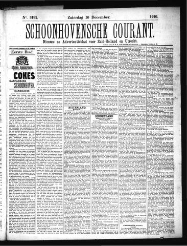 Schoonhovensche Courant 1910-12-10