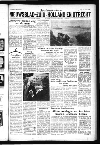 Schoonhovensche Courant 1962-10-19