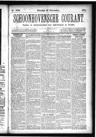 Schoonhovensche Courant 1915-11-23