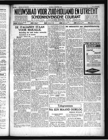 Schoonhovensche Courant 1935-11-08