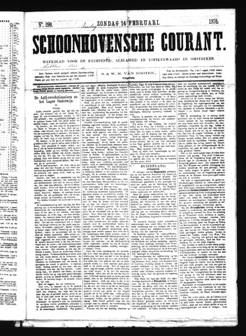Schoonhovensche Courant 1875-02-14
