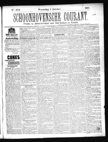 Schoonhovensche Courant 1910-10-05