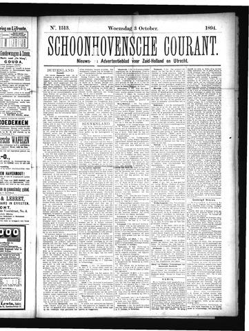 Schoonhovensche Courant 1894-10-03
