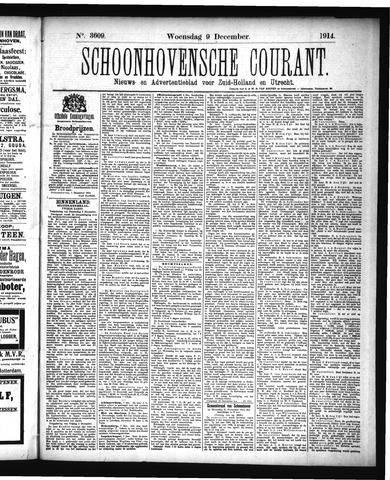 Schoonhovensche Courant 1914-12-09