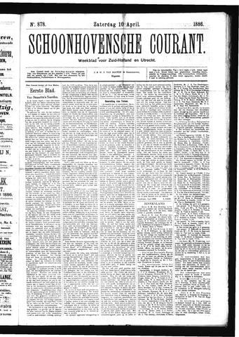 Schoonhovensche Courant 1886-04-10