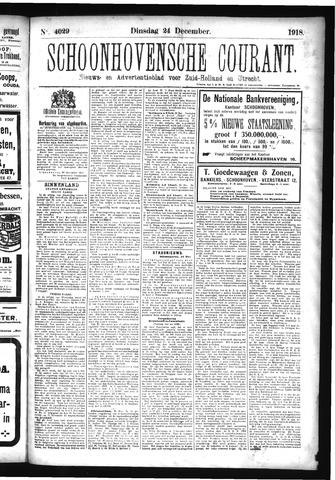 Schoonhovensche Courant 1918-12-24