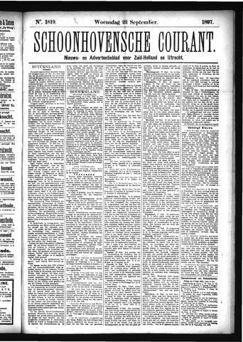 Schoonhovensche Courant 1897-09-22