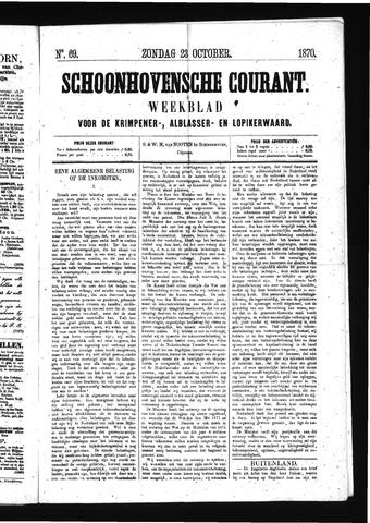 Schoonhovensche Courant 1870-10-23
