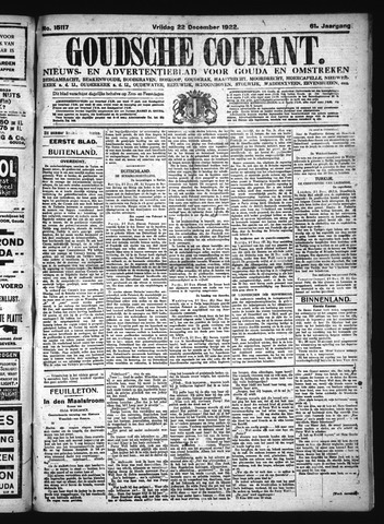 Goudsche Courant 1922-12-22