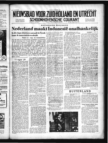 Schoonhovensche Courant 1949-12-09
