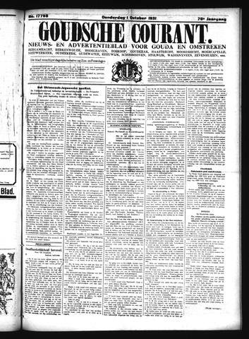 Goudsche Courant 1931-10-01