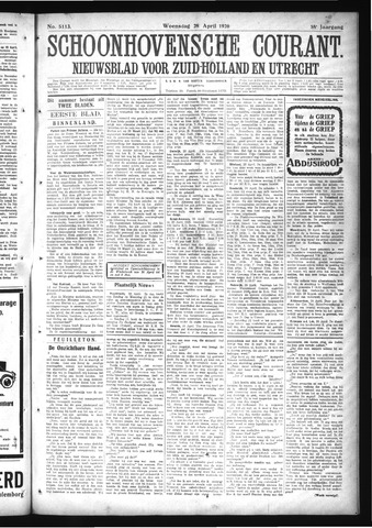 Schoonhovensche Courant 1926-04-28