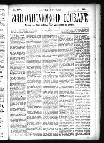 Schoonhovensche Courant 1895-02-23