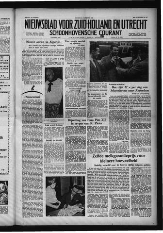 Schoonhovensche Courant 1958-10-15
