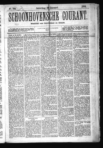 Schoonhovensche Courant 1884-01-26