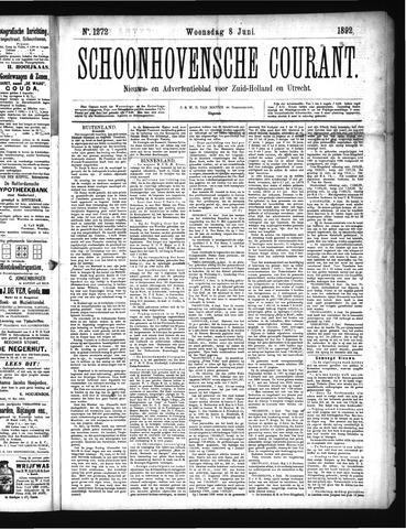 Schoonhovensche Courant 1892-06-08